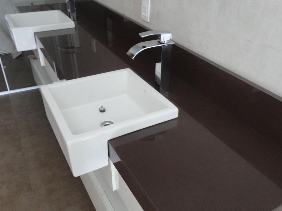 Pedra Forte  Mármores e Granitos em Chapecó SC -> Pia De Banheiro Granito Marrom Absoluto