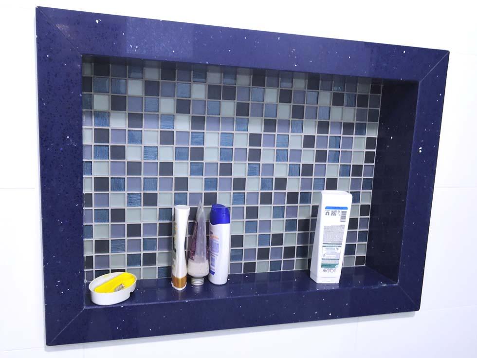 Pedra Forte  Churrasqueira em Granito Café Imperial -> Nicho Banheiro Silestone